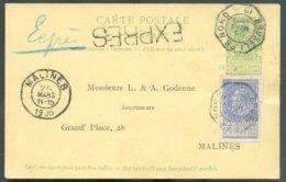 TRAM C.P. Expédiée De L'Institut Solvay Situé Au Parc Léopold (Quartier Léopold à Etterbeek) Et Déposée Dans La Boîte Du - 1893-1900 Barbas Cortas