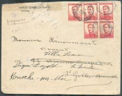 TRAM Enveloppe Expédiée Par Le Notaire Vanisterbeek Situé à Koekleberg Et Déposée Dans La Boîte Du Tram Qui Se Dirige Su - 1912 Pellens