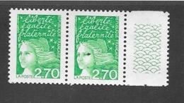 France:Variété Sans Phosphore N°3535Aa** Réf: Y & T  (cote 20,00€) En Paire - Variétés Et Curiosités