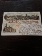 Cartolina Postale Illustrata, Postcard 1896, Genève, Souvenir De L'exposition Natìonale Suisse - GE Genf