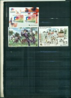 COREE DU SUD DESSINS ANIMES VIII -PHILAKOREA 2002 3 BF NEUFS A PARTIR DE 0.75 EUROS - Corea Del Sud