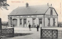 28 THEUVY ACHERES - Café Du Chemin De Fer  - Animée - France