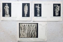 GRECE ATHENES SCULTURES 3 X CARTES POSTALES - Grecia