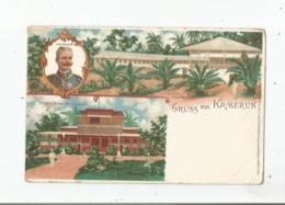GRUSS AUS KAMERUN 2 V. PUTTKAMER. GOUVERNEMENTS GEBAUDE - Kamerun
