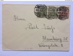 GERMANY 1922 Cover Altona To Hamburg - Deutschland