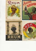 LOT DE 9 ETIQUETTES RHUM  DIVERSES ET TB ILLUSTRATION - Rhum
