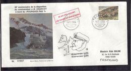 ISLANDE - REKJAVIK Du 16.9.1986,enveloppe Illustrée MARIN MARIE Et P.E. VICTOR 50ème Anniv De La Disparition De CHARCOT. - Terres Australes Et Antarctiques Françaises (TAAF)