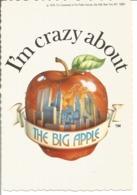 "CP Des Etats Unis "" NEW YORK CITY - I'm Crazy About The BIG APPLE (World Trade Center) 1976 "" - New York City"