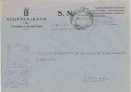 34126. Carta S.N. Franquicia Ayuntamiento TORROELLA De MONTGRI (Gerona) 1960. Fechador Torroella - 1931-Hoy: 2ª República - ... Juan Carlos I