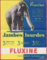 Publicité Médicament ; Medecin ; Pharmacie ;FLUXINE  Jambes Lourdes ( élèphant ) . Jambes Légéres ( Femme Nue ) - Advertising