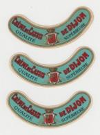 BB912 - LOT 3 étiquettes Anciennes CREME DE CASSIS De DIJON - Qualité Supérieure - Andere Flessen