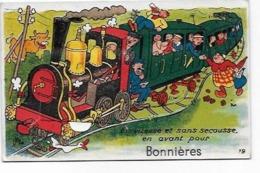 DEP 78 BONNIERES SUR SEINE CARTE SYSTEME AVEC PETITES VUES PAS COMPLETE JUSTE 2 VUES - Bonnieres Sur Seine
