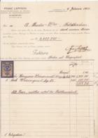 FACTURA, RECHNUNG   --  KLAGENFURT   --   FRANZ LAPITSCH  --  1923  --  MIT 5000 KRONEN  TAX STAMP  --  STEMPELMARKE - Autriche