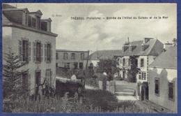 CPA FINISTERE (29) - TREBOUL - ENTREE DE L'HOTEL DU COTEAU ET DE LA MER - CLICHE BOZEC - Tréboul