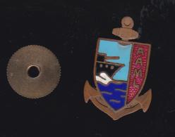60102-ancien Pin's à Vis.ancre Marine.militaire.armée.. - Militaria