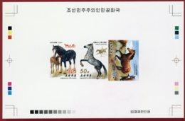 Korea 2013 SC #5201-03, Collective Deluxe Proof, Horses - Caballos