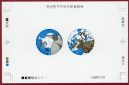 Korea 2013 SC #5187-88, Collective Deluxe Proof, Artic & Antarctic Animals - Briefmarken