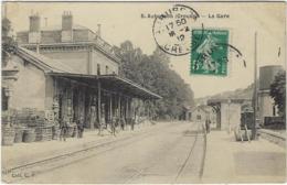 23  Aubusson  La Gare E Rue - Aubusson