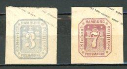 Allemagne Hambourg    Y&T   4 + 7   Obl    ---     Mi  4 + 6    -  Post Couvert Envelope - Hamburg