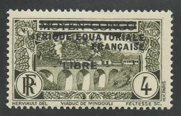 AFRIQUE EQUATORIALE FRANCAISE - AEF - A.E.F. - 1940 - YT 102** - A.E.F. (1936-1958)