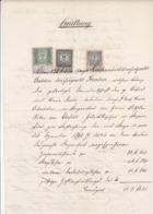 QUITTUNG --  EBERSTEIN ( SLOVENISCH SVINEC)  -  1897  --  MIT  3 Kr, 10 Kr Und  50 Kr TAX STAMP  -  STEMPELMARKE - Österreich