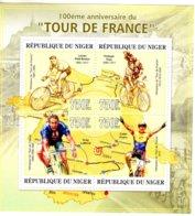 Niger 2013  -  Tour De France -  Petit-Breton-Thys-LeMond-Cadel Evans   -  4v MS  -  Neuf/Mint/MNH - Ciclismo