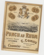 BB920 - Etiquette Ancienne PUNCH AU RHUM - C.COMOZ - CHAMBERY - Otras Colecciones