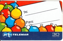 BRAZIL(Telemar) - Christmas 2001/Christmas Balls, 11/01, Used - Kerstmis