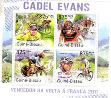 Guiné-Bissau 2011  -  Tour De France -  Volta A Franca  -  CADEL EVANS   -  4v MS  -  Neuf/Mint/MNH - Ciclismo