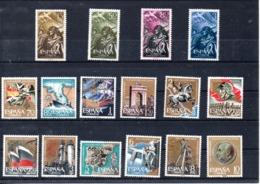 España Nº 1187-90 + Nº 1353-64, XX Y XXV Alzamiento, Series Completas En Nuevo - España
