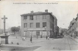 42 SAINT GENEST LERPT - Place Jacquard Et Rue De La République - Animée - Andere Gemeenten