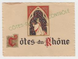 BB922 - Etiquette Ancienne Côtes Du Rhône - Vino