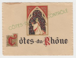 BB922 - Etiquette Ancienne Côtes Du Rhône - Wein