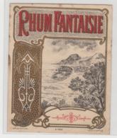 BB923 - Etiquette Ancienne RHUM FANTAISIE - Baelde Poitiers - Andere Sammlungen