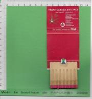 01312-E BE04 1000-EXPO 58   Boîte D'allumettes  Pub TRANS/CANADA AIR LINES AIR CANADA - Matchboxes