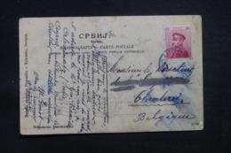 SERBIE - Affranchissement Serbe Sur Carte Postale De Nish En 1912 Pour La Belgique - L 43198 - Serbie
