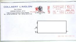 Lettre Flamme Ema Saint Fargeau L'aiglon - Affrancature Meccaniche Rosse (EMA)