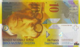 Suisse 10 Francs (P67e) 2013 (Pref: H) -UNC- - Zwitserland