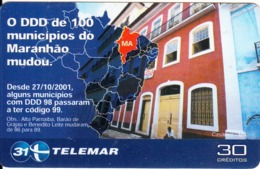BRAZIL(Telemar) - Advertising Telemar, 12/01, Used - Brésil