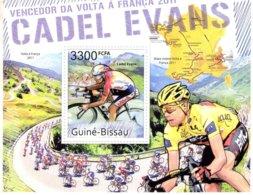 Guiné-Bissau 2011  -  Tour De France -  Volta A Franca  -  CADEL EVANS   -  1v MS  -  Neuf/Mint/MNH - Ciclismo