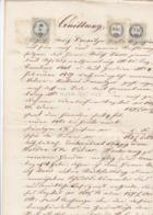 QUITTUNG, FACTURA  --  WOLFSBERG   -    1862  --   MIT 6 Kr, 7 Kr Und 50 Kr  TAX STAMP  --  STEMPELMARKE - Österreich
