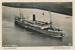 Nederlands Indië - Fotokaart MS INDRAPOERA Rotterdamsche Lloyd - Copyright KLM Foto - Dampfer