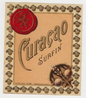 BB931 - Etiquette Ancienne CURACAO SURFIN - Palyart Paris - Haberer - Douin - Jouneau - Unclassified