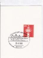 BRD Mi: 848 Leuchtturm. K Stempel. 6000 Frankfurt Am Main 1.  Von Der Qing Dynastie Bis Heute. Chine. Bm. Ausst. 26.6.19 - Marcophilie - EMA (Empreintes Machines)