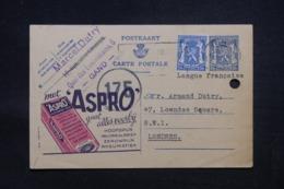 BELGIQUE - Entier Postal Publibel + Complément De Gent Pour Londres En 1945 Avec Cachet De Contrôle - L 43204 - Publibels