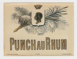 BB932 - Etiquette Ancienne PUNCH AU RHUM - - Andere Verzamelingen