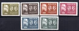 Serie  Nº 378/80 + A-186/8 Bolivia - Bolivia
