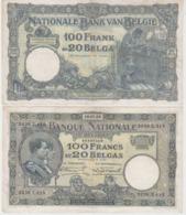 Billet 100 Francs Ou 20 Belgas   1932 - [ 2] 1831-... : Royaume De Belgique
