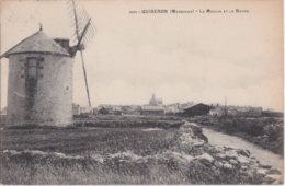 Rare Cpa QUIBERON - Le Moulin Et Le Bourg - Quiberon