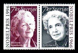 SUEDE 2000 - YT 2176/2177 - Facit 2217/2218 - NEUFS ** LUXE/ MNH - Paire Horizontale - Prix Nobel - Svezia
